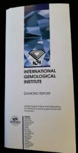 Exemple d'un certificat IGI