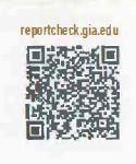 Certificat GIA en code bar