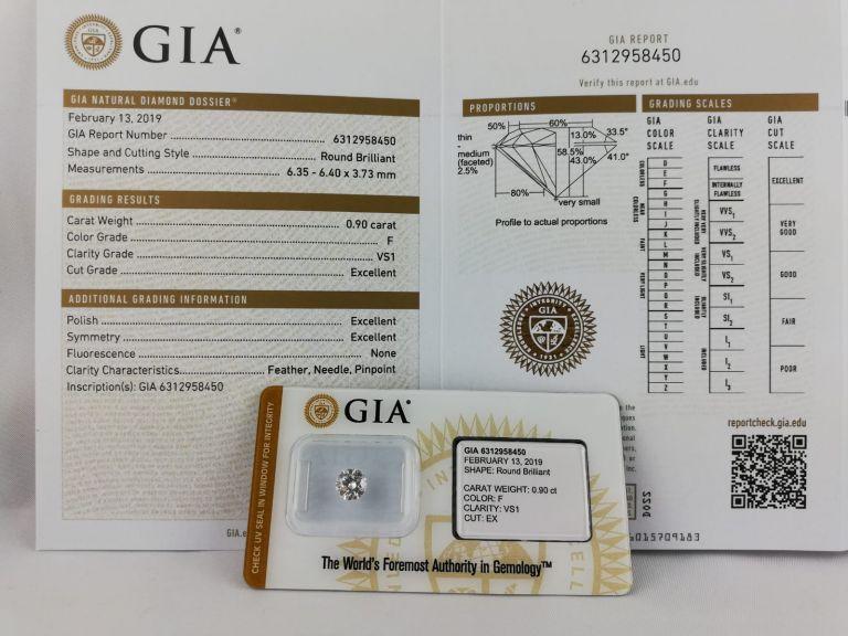 Diamant GIA à vendre couleur F VS1