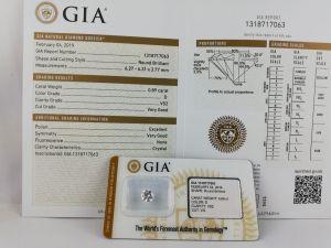 Diamant brut GIA à vendre 0,89 carat VS2 VG
