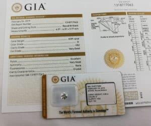 GIA 0.89 D VS2