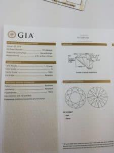 Diamant GIA 1.12 H