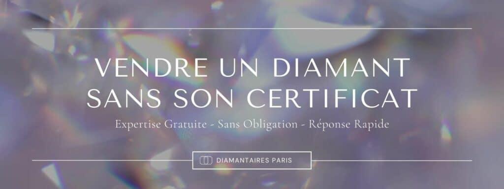 Vendre un diamant sans son certificat