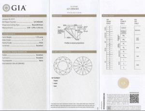 diamant à vendre 1.19 carat GIA
