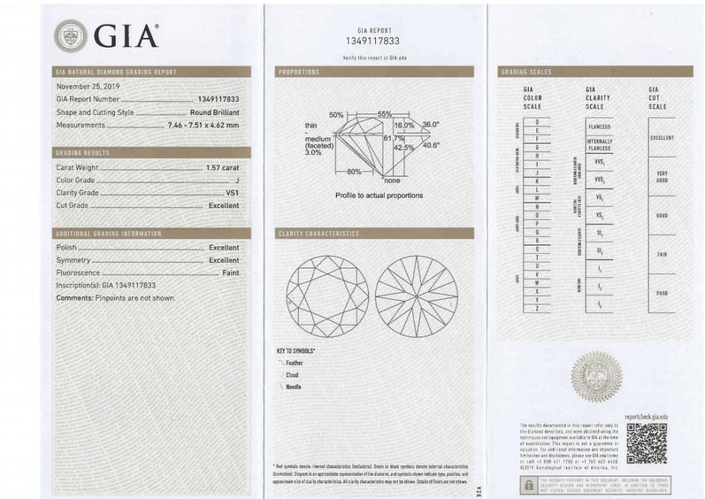 DIAMANT GIA 1.57