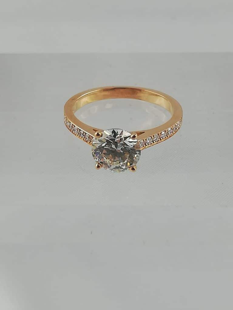 diamant rond 1.56 carat