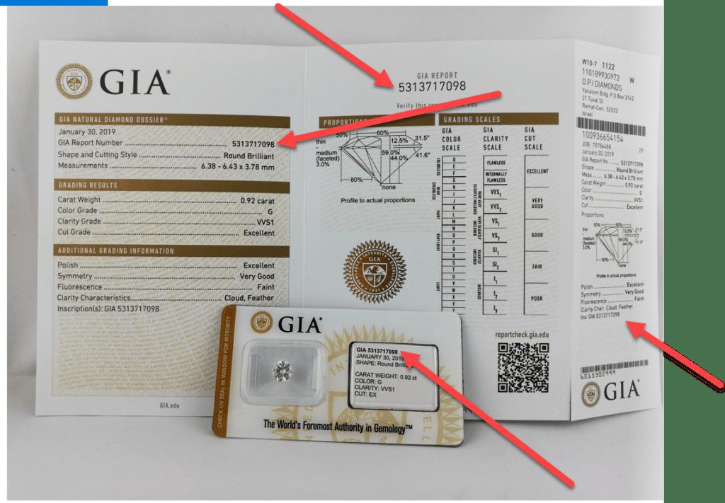 Où trouver certificat GIA